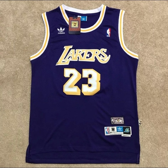 5e96a1469 Lebron James Lakers Jersey Throwback Purple NWT